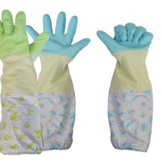 Перчатки хозяйственные латексные удлинённые