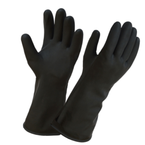 Перчатки латексные черные
