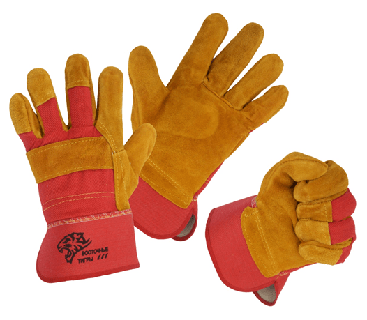 Перчатки спилковые комбинированные «Восточные тигры», лето