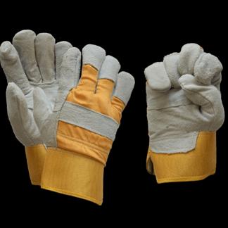 Перчатки спилковые комбинированные с утеплением