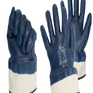 Перчатки маслобензостойкие с нитриловым пократием, крага