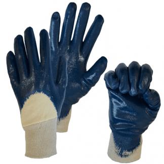 Перчатки с частичным нитриловым покрытием