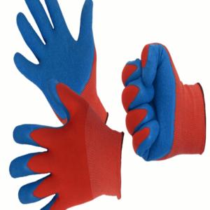Перчатки нейлоновые со вспененным латексным покрытием, 13 класс