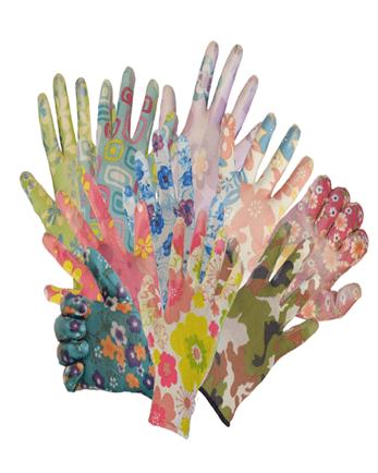 Цветные нейлоновые перчатки