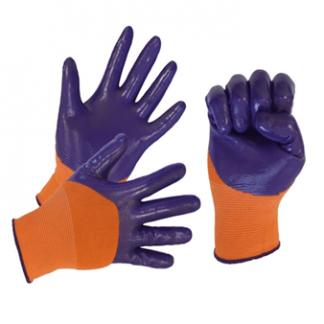 Перчатки нейлоновые с нитриловым покрытием, полный облив