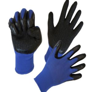Нейлоновые перчатки с латексным покрытием