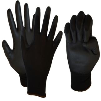 Перчатки нейлоновые с полиуретановым покрытием ладони