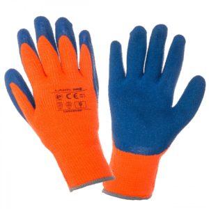 Перчатки акриловые с вспененным покрытием, зима